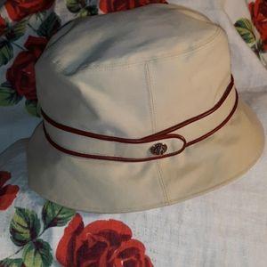 Coach Ladies Bucket Rain Hat with Twist Lock Belt
